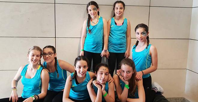 Las chicas del aeróbic se exhiben en Valencia
